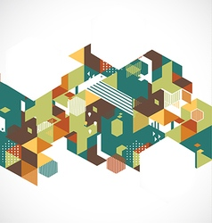 Abstract retro and creative with geometric hexagon vector image vector image