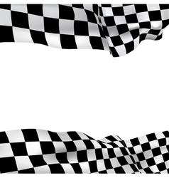 background checkered flag vector image vector image