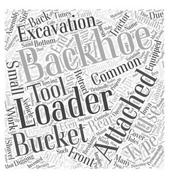 Backhoe loader word cloud concept vector