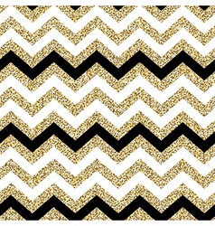 Chevron seamless pattern Glittering golden surface vector image vector image