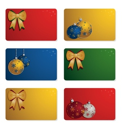 christmas gift cards vector image vector image