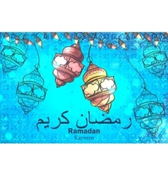 Festive background celebration of ramadan kareem vector