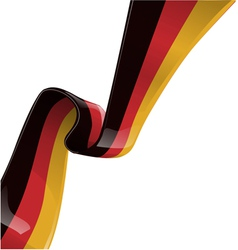 Germany ribbon flag vector