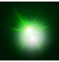 Green color design with a burst EPS 10 vector image vector image