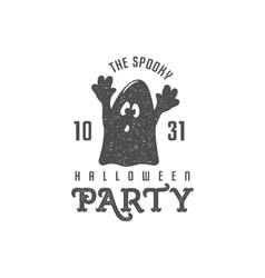 Halloween label template text - vector