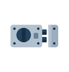 house door lock access equipment icon vector image vector image