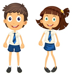 kids with pencil vector image