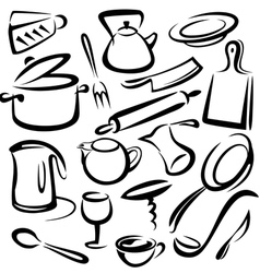 kitchen equipment vector image vector image