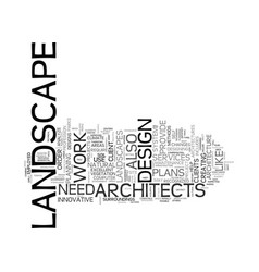 Landscape architects text background word cloud vector