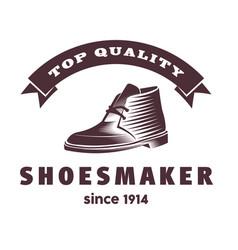 modern shoe logo design mens shoe abstact vector image