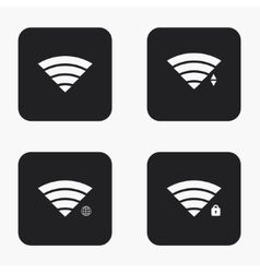 modern wi fi icons set vector image