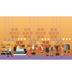 People shopping in a mall concept Fashion clothes vector image vector image