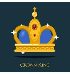 Pope triada or kings crown golden monarch symbol vector
