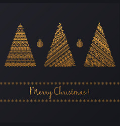 set of geometric golden linear graphic christmas vector image vector image