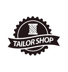 tailor shop or dressmaker atelier salon vector image