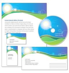Template for corporate identity vector