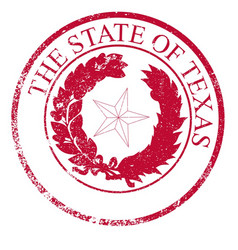Texas state rubber stamp seal vector