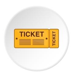 Ticket icon cartoon style vector