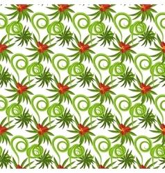 Tropical grass field seamless pattern vector