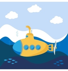 Yellow Submarine vector image vector image