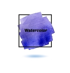 Splash watercolor isolated on white background vector