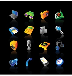Realistic icons set for devices vector