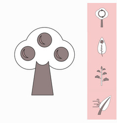 collection of icons and environmental nature vector image