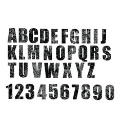 English alphabet crack vector