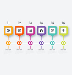 Square infographic with 5 options vector
