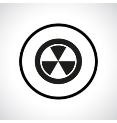 Radiation hazard symbol in a circle vector