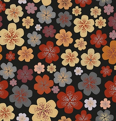 Floral pattern design vector