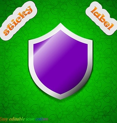 Shield protection icon sign symbol chic colored vector