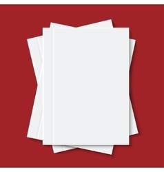Modern white books or brochure vector