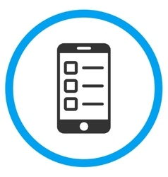 Mobile test circled icon vector