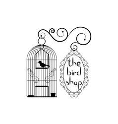 Signboard of bird shop vector image