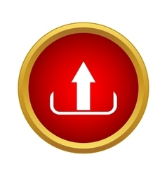 Upload icon simple style vector