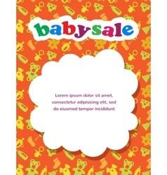 baby sale with colorful background vector image