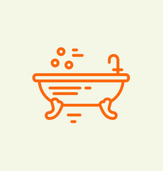 Bathtub design vector
