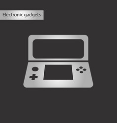 Black and white style icon game console vector