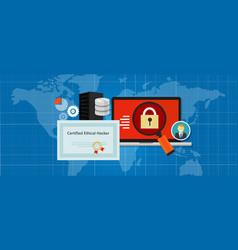 Certified ethical hacker security expert in vector