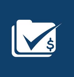 check data business finance logo vector image