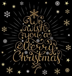 Christmas inscription with colorful rays vector