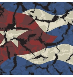 Cuban grunge flag grunge effect can be cleaned vector