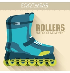 Flat sport rollers background concept desig vector