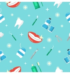 Healthy Teeth Dental Seamless Pattern vector image vector image