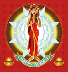 India Dewali Deepavali Celebration vector image