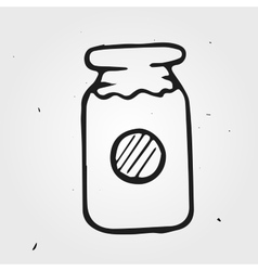 Jam-jar hand drawn vector image