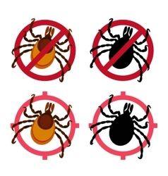 Mite icons set vector image