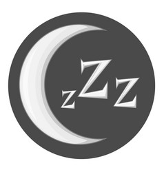 Night icon monochrome vector