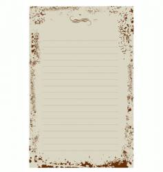 notepad background vector image